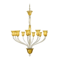 Cyan Design Vetrai Clear with Amber Chandelier