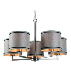 Margot Brushed Steel Chandelier by Kenroy Home