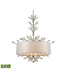 Elk Lighting Asbury Aged Silver LED Pendant Light with Drum Shade
