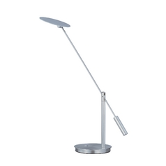 Modern LED Desk Lamp in Satin Nickel Finish
