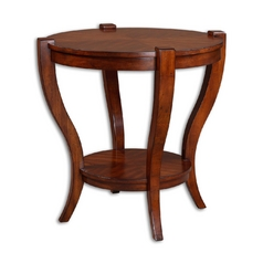 Coffee & End Table in Antique Pecan Finish