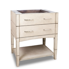 Hardware Resources Bathroom Vanity in French White Finish VAN086