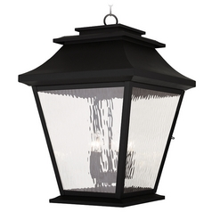 Livex Lighting Hathaway Black Outdoor Hanging Light
