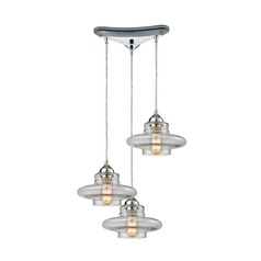 Elk Lighting Orbital Polished Chrome Multi-Light Pendant
