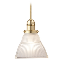 Hudson Valley Lighting Mini-Pendant Light with White Glass 3101-PB-45F