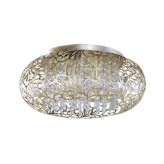 Maxim Lighting Arabesque Golden Silver Flushmount Light