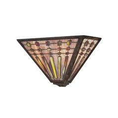 Quoizel Lighting Sconce with Brown Glass in Indio Bronze Finish TFBK8802IO
