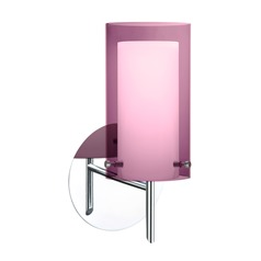 Besa Lighting Pahu Chrome Sconce