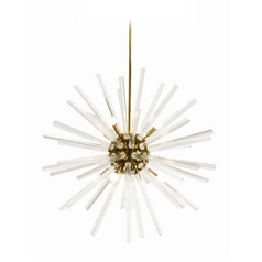 Arteriors Home Lighting Hanley Antique Brass Pendant Light