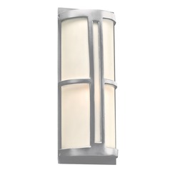 Plc Lighting Rox Silver Outdoor Wall Light