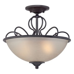 Designers Fountain Tangier Natural Iron Semi-Flushmount Light