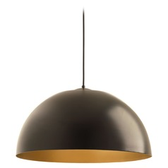 Progress Lighting Dome Antique Bronze LED Pendant Light