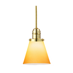 Hudson Valley Lighting Mini-Pendant Light with Amber Glass 3101-PB-505A