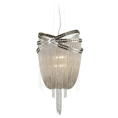 Avenue Lighting Wilshire Blvd Polished Nickel Pendant Light