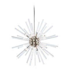 Arteriors Home Lighting Hanley Polished Nickel Pendant Light