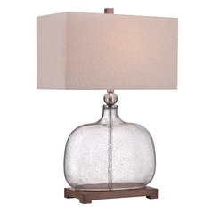 Quoizel Brookmont Brushed Nickel Table Lamp with Rectangle Shade