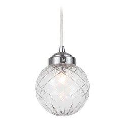 Crystorama Lighting Essex Polished Chrome Mini-Pendant Light with Globe Shade