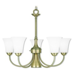 Livex Lighting Ridgedale Antique Brass Chandelier