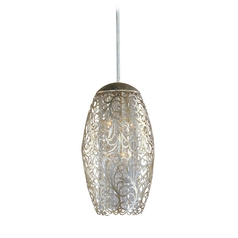 Maxim Lighting Arabesque Golden Silver Pendant Light with Oblong Shade