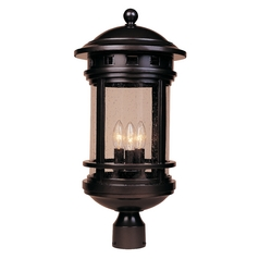Seeded Glass Post Light Oil Rubbed Bronze Designers Fountain Lighting