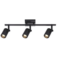 Track Light with 3 Cylinder Spot Lights - Black - GU10 Base