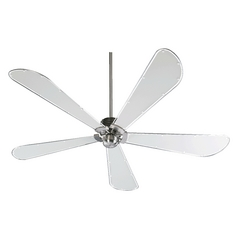 Quorum Lighting Dragonfly Satin Nickel Ceiling Fan Without Light