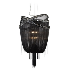 Avenue Lighting Wilshire Blvd Polished Black Chrome Pendant Light