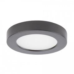 WAC Lighting Edge Lit Button Light Brushed Nickel 3-Inch LED Under Cabinet Puck Light
