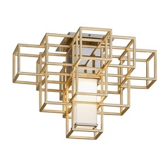 Corbett Lighting Metropolis Gold Leaf LED Semi-Flushmount Light