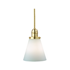 Hudson Valley Lighting Mini-Pendant Light with White Glass 3101-PB-505M