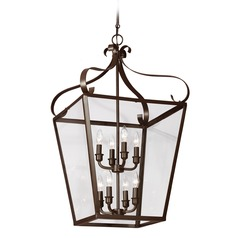 Sea Gull Lighting Lockheart Heirloom Bronze Pendant Light with Square Shade