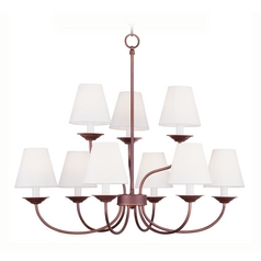 Livex Lighting Mendham Vintage Bronze Chandelier
