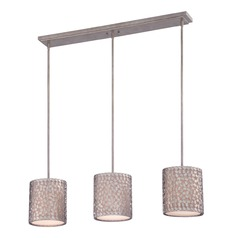 Quoizel Confetti Old Silver Multi-Light Pendant with Cylindrical Shade