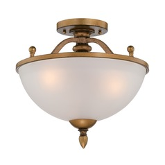 Designers Fountain Isla Aged Brass Semi-Flushmount Light