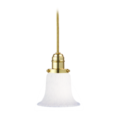 Hudson Valley Lighting Mini-Pendant Light with White Glass 3101-PB-7200