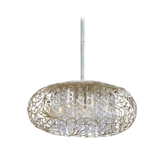 Modern Pendant Light in Golden Silver Finish