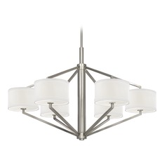 Chandelier with Drum Shades - Six Lights