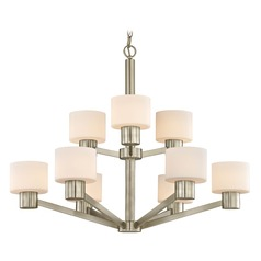 Mai Satin Nickel Chandelier