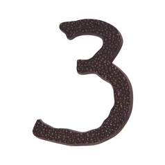 Atlas Homewares Modern House Number in Aged Bronze Finish HN3L-O