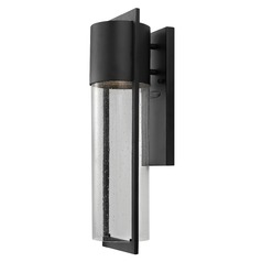 Seeded Glass LED Outdoor Wall Light Black Hinkley Lighting