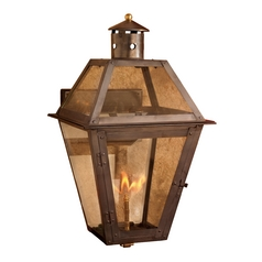 Outdoor Wall Light with Clear Glass in Washed Pewter Finish