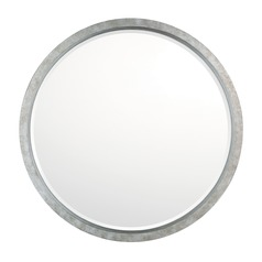 Capital Lighting Antique Silver Round Mirror 32x32