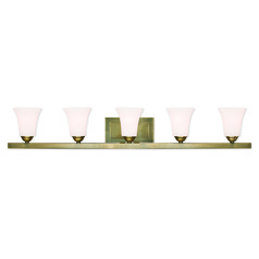 Livex Lighting Ridgedale Antique Brass Bathroom Light