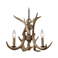 Elk Lighting Elk Wood Brown Mini-Chandelier