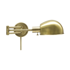 Swing Arm Lamp in Antique Brass Finish