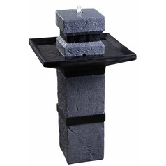 Kenroy Home Monolith Dark Stone LED Outdoor Fountain