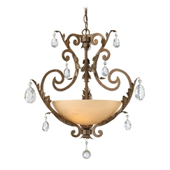 Frederick Ramond Barcelona French Marble Pendant Light with Bowl / Dome Shade