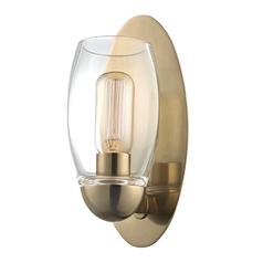 Modern Sconce Brass Pamelia by Hudson Valley Lighting