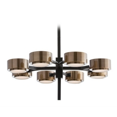 Mid-Century Modern Chandelier Bronze Jalen by Arteriors Home Lighting