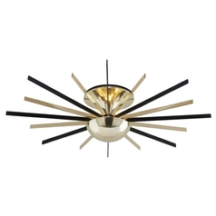Art Deco Semi-Flushmount Light Brass Atomic by Troy Lighting